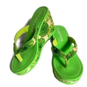 New Rampage wedge sandals size 7